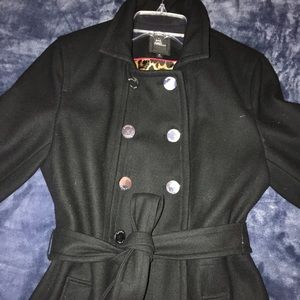 Express Military Inspired Double Breasted Coat